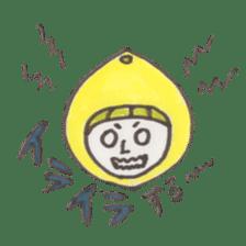 office worker lemon sticker #4782607