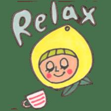 office worker lemon sticker #4782613