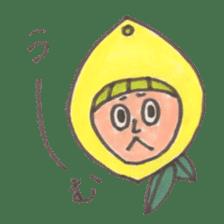 office worker lemon sticker #4782614
