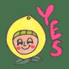 office worker lemon sticker #4782617