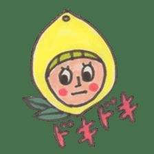 office worker lemon sticker #4782619