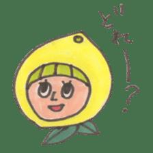 office worker lemon sticker #4782620