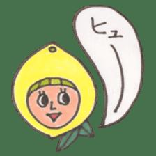 office worker lemon sticker #4782621