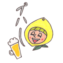 office worker lemon sticker #4782622
