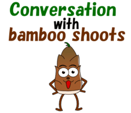 Conversation with bamboo shoots English sticker #4783104
