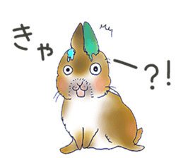 Small Rabbit strange dream sticker #4783544