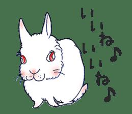 Small Rabbit strange dream sticker #4783548