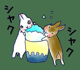 Small Rabbit strange dream sticker #4783552