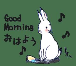 Small Rabbit strange dream sticker #4783553