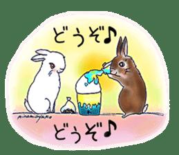 Small Rabbit strange dream sticker #4783557
