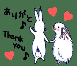 Small Rabbit strange dream sticker #4783578