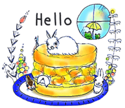 Small Rabbit strange dream sticker #4783580