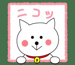 Cat named Shiro sticker #4784031