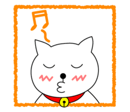 Cat named Shiro sticker #4784046