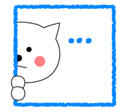 Cat named Shiro sticker #4784063