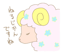 sleepy sleepy sheep sticker #4784926