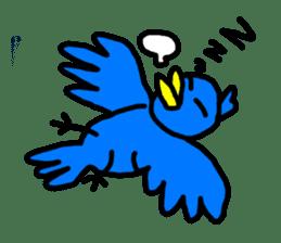 BlueBird with a Yellow beak <Part.2> sticker #4785196