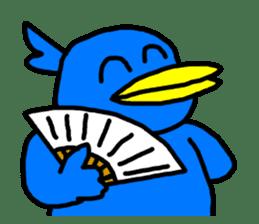 BlueBird with a Yellow beak <Part.2> sticker #4785208
