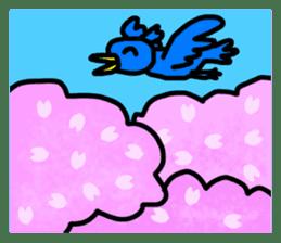 BlueBird with a Yellow beak <Part.2> sticker #4785212