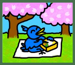 BlueBird with a Yellow beak <Part.2> sticker #4785213