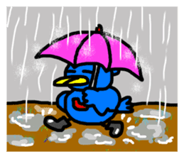 BlueBird with a Yellow beak <Part.2> sticker #4785214
