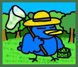 BlueBird with a Yellow beak <Part.2> sticker #4785215
