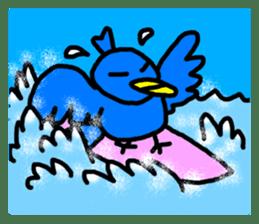 BlueBird with a Yellow beak <Part.2> sticker #4785218