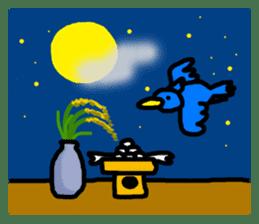 BlueBird with a Yellow beak <Part.2> sticker #4785219