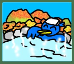 BlueBird with a Yellow beak <Part.2> sticker #4785220