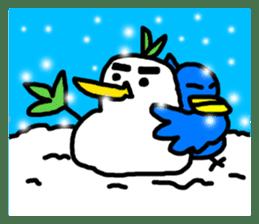 BlueBird with a Yellow beak <Part.2> sticker #4785223