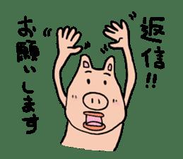 Mr.pork2 sticker #4785270