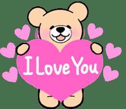 Heartful sweet bear 2 sticker #4786744