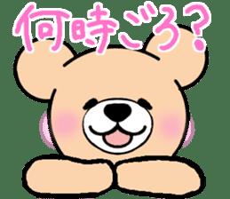 Heartful sweet bear 2 sticker #4786752