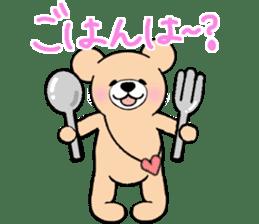 Heartful sweet bear 2 sticker #4786753