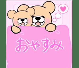 Heartful sweet bear 2 sticker #4786773