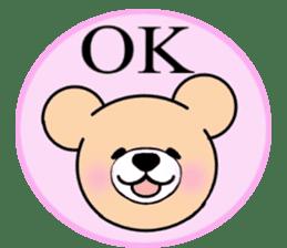 Heartful sweet bear 2 sticker #4786774