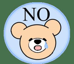 Heartful sweet bear 2 sticker #4786775