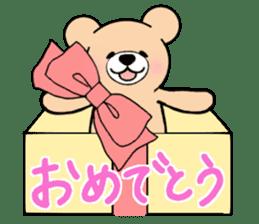 Heartful sweet bear 2 sticker #4786776
