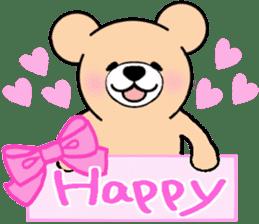 Heartful sweet bear 2 sticker #4786777