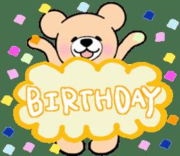 Heartful sweet bear 2 sticker #4786778