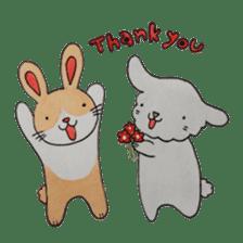 mimi & yui @ cafe sticker #4787106