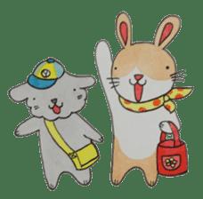 mimi & yui @ cafe sticker #4787116
