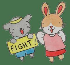mimi & yui @ cafe sticker #4787117