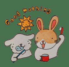 mimi & yui @ cafe sticker #4787120