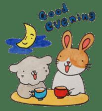mimi & yui @ cafe sticker #4787121