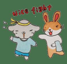 mimi & yui @ cafe sticker #4787124