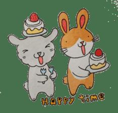 mimi & yui @ cafe sticker #4787125
