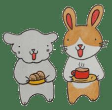 mimi & yui @ cafe sticker #4787126