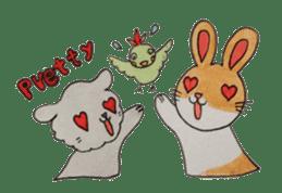 mimi & yui @ cafe sticker #4787131