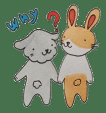 mimi & yui @ cafe sticker #4787132